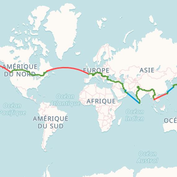 L'hémisphère nord à vélo !