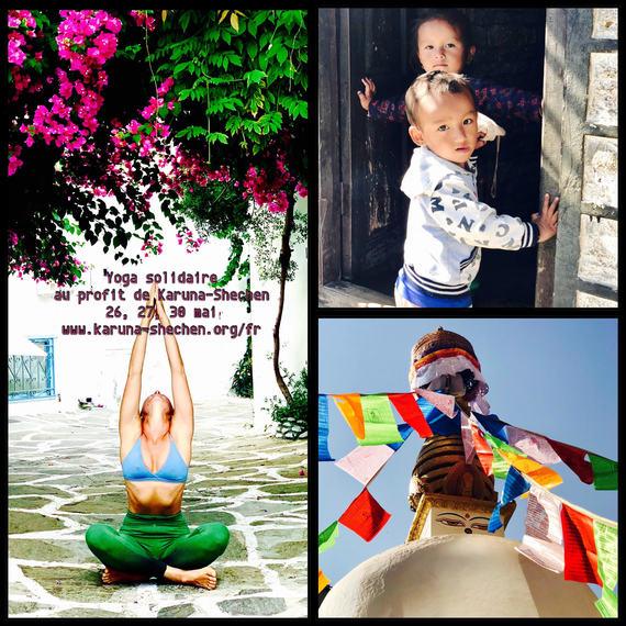 Trois séances de Yoga. Une séance pour enfants et deux séances pour adultes, hatha yoga et yoga de la femme.