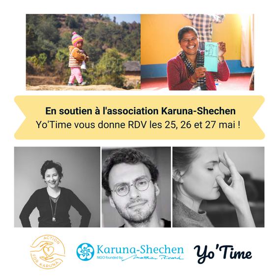 Action for Karuna et Yo'Time - 3 séances inédites de yoga et méditation !