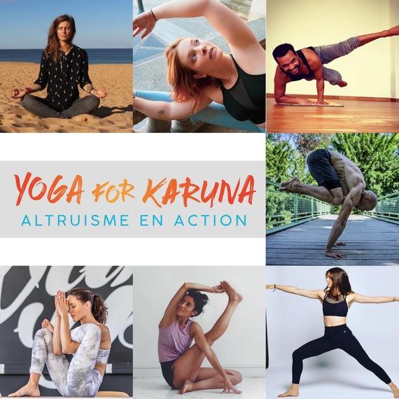 Yoga For Karuna - Caroline, Coelia, Sabrina, Nathalie, Alexandra, Charlotte, Rachid et Jerome
