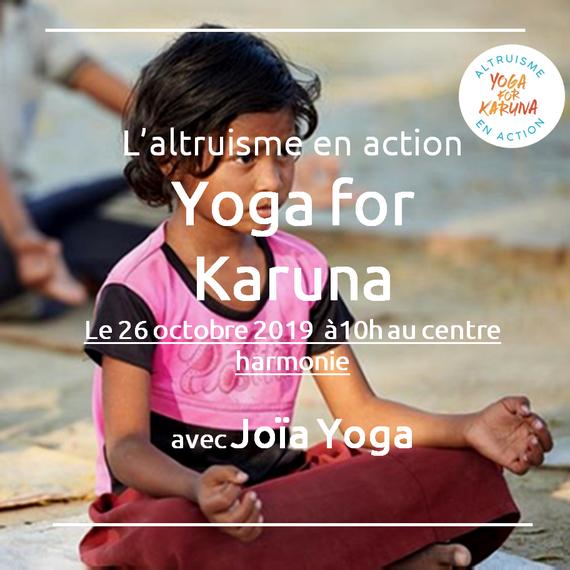 Joïa Yoga professeur partenaire de Yoga for Karuna