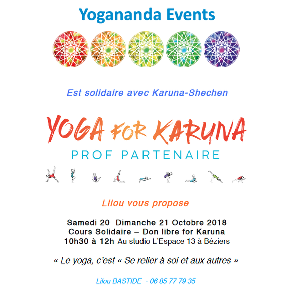 YOGANANDA EVENTS FOR KARUNA